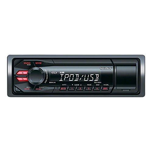 Sony DSX-A40UI Autoradio senza CD, Ingresso AUX e USB, Controllo diretto di iPhone e iPod, Potenza massima di uscita 4x55W, Rosso