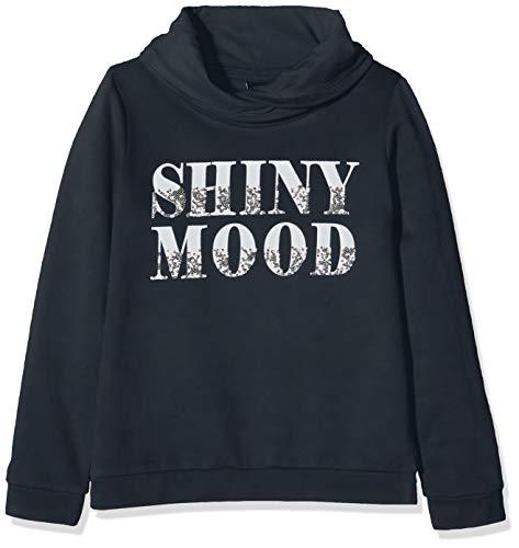 s.Oliver RED Label Mädchen Sweatshirt mit Wording und Pailletten geishas Night Blue M.REG