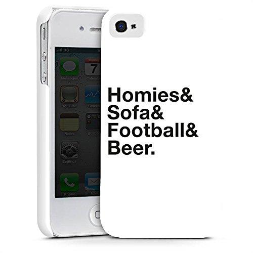 Apple iPhone X Silikon Hülle Case Schutzhülle Fußball Bier Luxus Premium Case glänzend