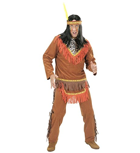 Widmann-Indianer Kostüm Krieger, in Größe S (Fancy Dress Kostüm Indien)