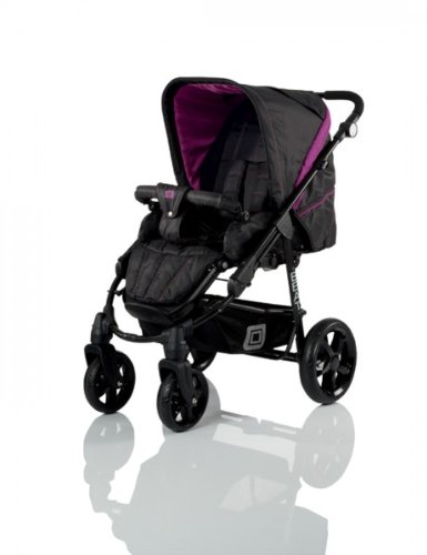 Babywelt Moon 2013 Kombi-Kinderwagen Beat incl. Tragetasche 720 Black & Pink