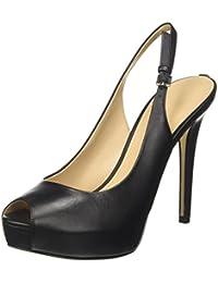TG. 39.5 EU Nero Guess Footwear Dress Open Toe Scarpe Col Tacco con Plateau D