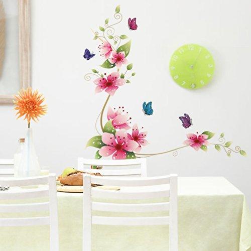 Wandaufkleber Wandtattoo Wandsticker Groß Blumen Magnolie. QT94 (Große Magnolia)