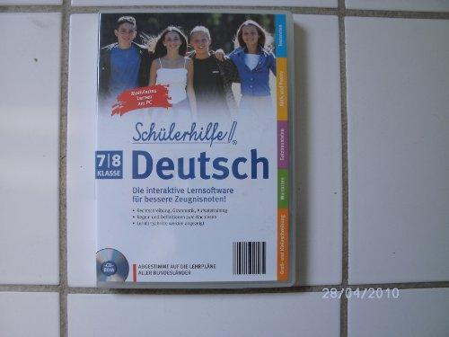 Schülerhilfe! ~ Deutsch ~ Klasse 7 & 8 ~ Die interaktive Lernsoftware für bessere Zeugnisnoten! ~ Abgestimmt auf die Lehrpläne aller Bundesländer