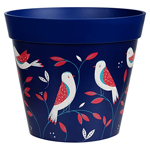 Hum Flowerpots, blue bird placement plant pot, outdoor/indoor planter