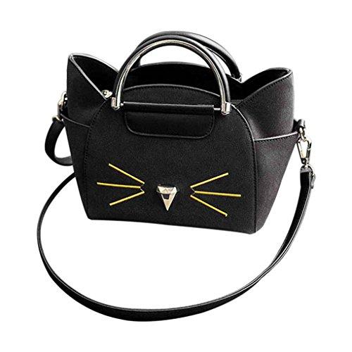 Netter PU-Leder-Frauen-Handtaschen-Mädchen-Kurier Crossbody Beutel der Dame-Fashion-Katzen-Kostüm Einkauf Umhängetasche Arichtop (Einfache Cat Kostüme Für Frauen)