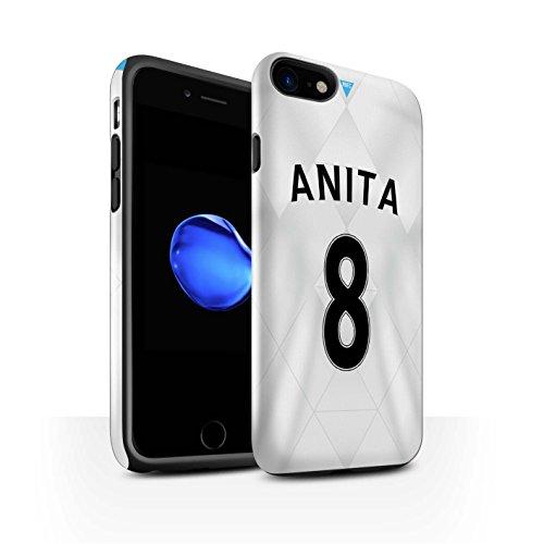 Officiel Newcastle United FC Coque / Brillant Robuste Antichoc Etui pour Apple iPhone 7 / Anita Design / NUFC Maillot Extérieur 15/16 Collection Anita