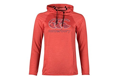 Canterbury Damen Fleece Hoodie Hot Coral Marl