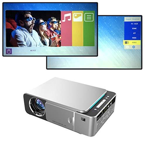 HWUKONG Trapezkorrektur, Mini-Projektor Volle HD-LED-Projektor 4K 3500 Lumen HDMI USB Tragbarer Kino-Projektor-Beamer für Geschäfts- und Heimkino-Android WiFi-Unterstützung
