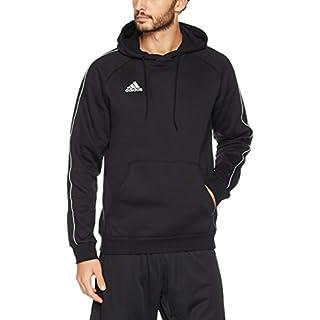 Adidas CE9068 Core 18 Hoodie - Black/White, Medium