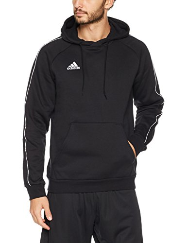 adidas Herren CORE18 Hoody Sweatshirt Black/White, 2XL