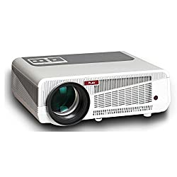 Play White and Grey Full HD Portable LED Projector with 360 degree flips and front projection