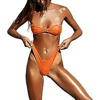 DEELIN Bikini Mujer, Moda Mujer Sexy Color SóLido Sexy Bikini Set Push-Up Traje De BañO De Corte Alto BrasileñO Ropa De Playa Traje De Baño Baño Tanga Traje De Baño Traje De Baño