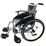 Z-Tec Lightweight Folding Aluminium Self Propelled Wheelchair Seat Width 18-inch