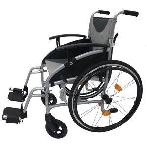 Z-Tec Lightweight Folding Aluminium Self Propelled Wheelchair Seat Width 18-inch