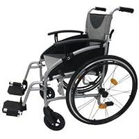 Z-Tec - Silla de ruedas autopropulsada, plegable y ligera con asiento de 45,5 cm