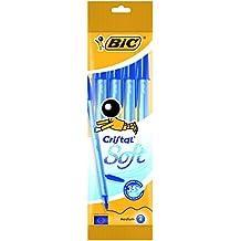 BIC Soft - Estuche de 4 bolígrafos, color azul