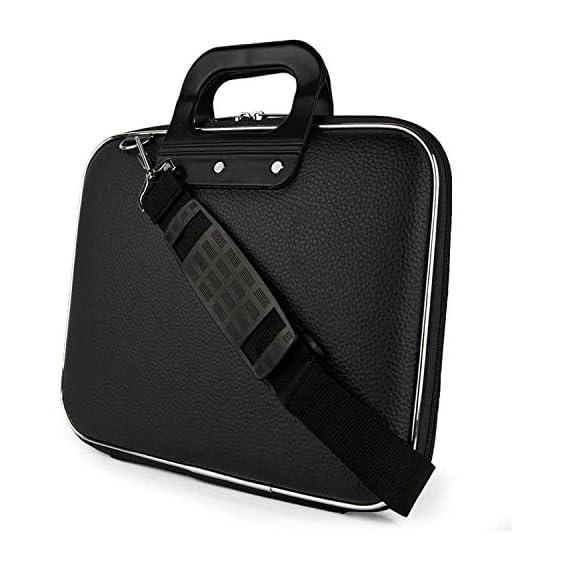 Venue Black PU Leather Office Laptop Bag with String 15 Inch/Side Bag Cross Bag Leather Bag Men Man Side Bag Gents Bag Men Side Bag One Side Bag Men Carry Bag Men