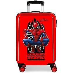 Maleta de cabina rígida Spiderman Geo roja