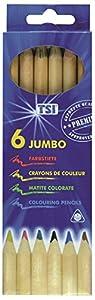 TSI ETI 31807 - crayones Jumbo Premium de 6 Paquetes