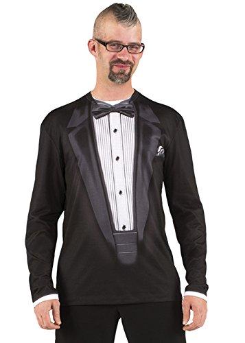 Kostüm Service Secret - Magic Box Int. Mens James Bond Style fotorealistische Tuxedo Top Large