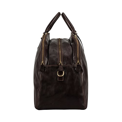 Maxwell Scott® Borsa donna in pelle italiana di lusso personalizzato (la lilianal), Dark Chocolate Brown (Marrone) - LilianaL_907_4 Dark Chocolate Brown