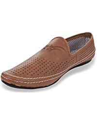 ROADSTAG Men's Casual Slip-On Loafers (Brown)