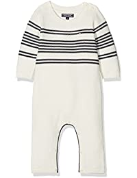 Tommy Hilfiger Placed Stripe Baby Coverall L/S, Polaina para Bebés