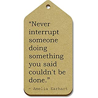 Stamp Press 10 'Never interrupt someone doing something you said couldn't be done.' Quote by Amelia Earhart Wooden Gift Tags (TG00026735)