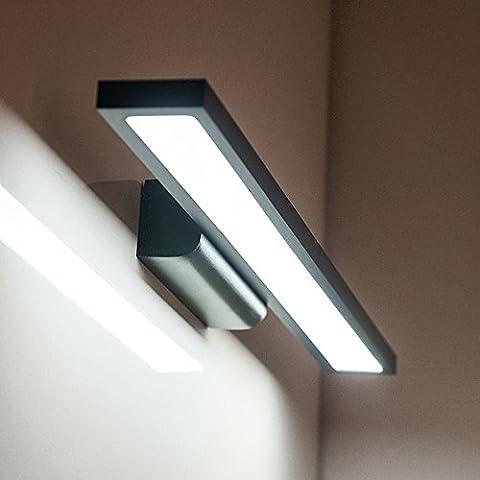 BBSLT Creativo della moda specchio armadio luce parete semplice bagno bagno camera da letto LED impermeabile impermeabili specchio lampada fendinebbia 400/600 * 40 * 80 mm , black -60cm- white 12w