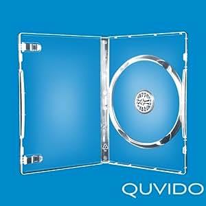 100 QUVIDO Boitier transparent fin simple CD/DVD 14mm