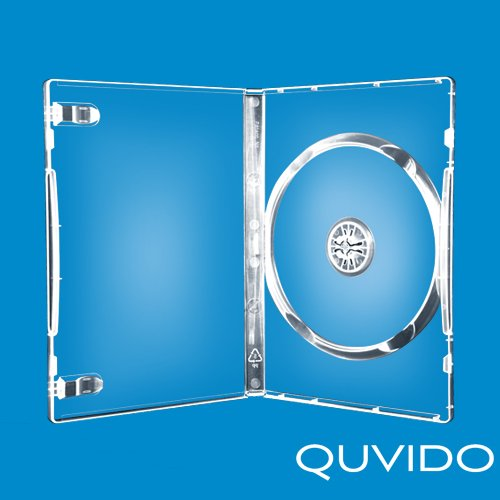 5QUVIDO DVD Gehäuse transparent Einfache 1CD/DVD/14mm