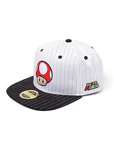 Nintendo - Roter Pilz - Cap | Nintendo | Herren Damen Unisex | Weiß | 100 % Baumwolle