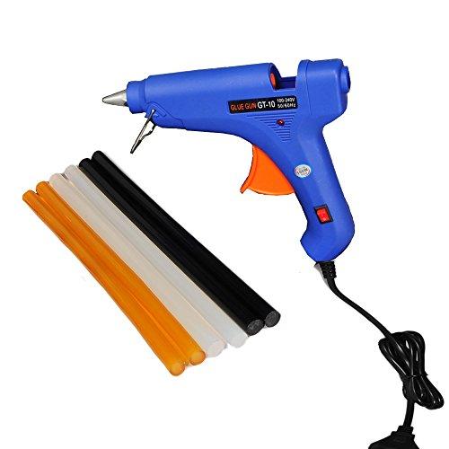 Preisvergleich Produktbild Shitongda 100 W HOT MELT Glue Gun mit 6 verschiedenen Melt Klebesticks (schwarz ist stark), ,  KLEBESTICKS (11 mm x 255 mm)