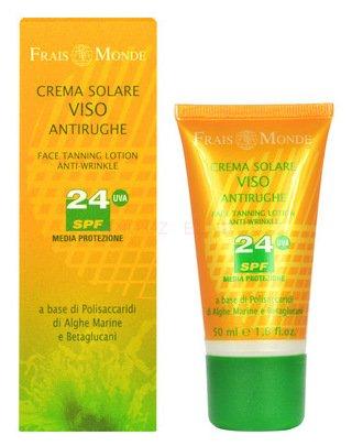 Frais Monde Face Tanning Lotion Anti Crème Solaire Antirides 50 ml