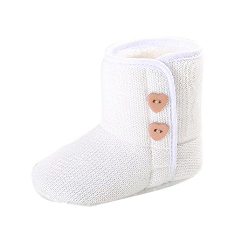 Tefamore Infant Toddler Taste weichen Sohle Winterstiefel Babyschuhe Junge Mädchen Krippe Weiß