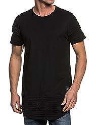 Sixth June - Tee-shirt homme noir oversize bandes relief