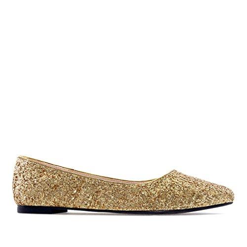 Andres Machado Ballerina Glitzer Gold Gr. 42