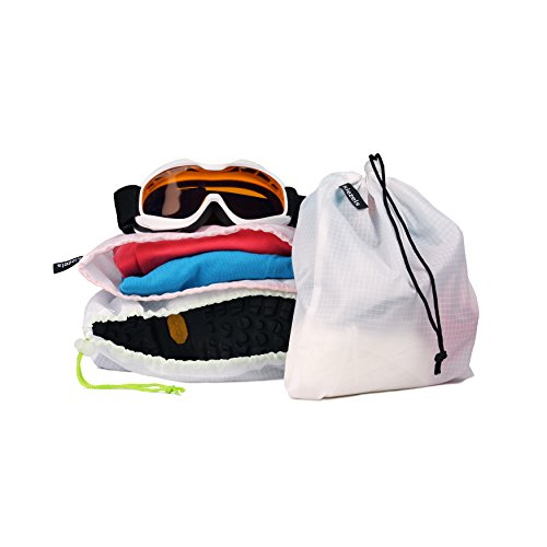 Kiezels - conjunto de 2 bolsas ligeras para zapatos / bolsas organizadoras - cielo azul y azul de medianoche fmk95