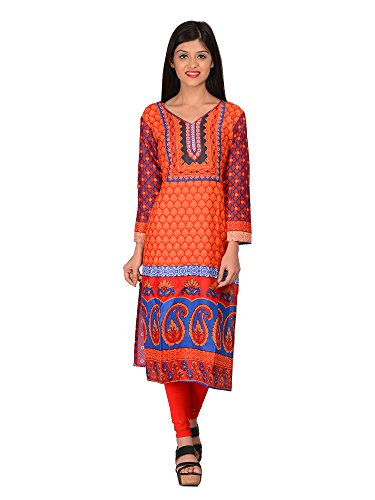 Nakoda Creation Women's Unstitched Cotton Multicolor Printed Kurti Fabric (Fabric only for Top)  available at amazon for Rs.129