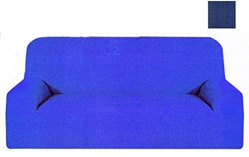 takestop® COPRIDIVANO 4 POSTI Blu Africa ESTENDIBILE da 170 A 280 CM SALVADIVANO Copri Divano Tessuto Elasticizzato Made in Italy