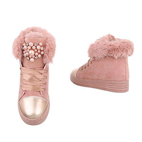 Chaussures femme Bottes et bottines Plat Bottines classiques Ital-Design Altrosa AB01