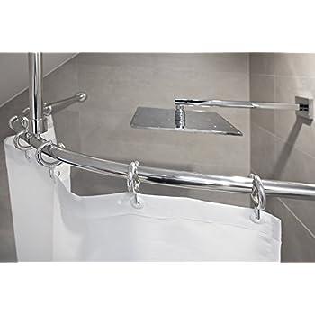 barre d 39 arc alu 120x120 cm barre pour le rideau de douche lumineuses mat ovale. Black Bedroom Furniture Sets. Home Design Ideas