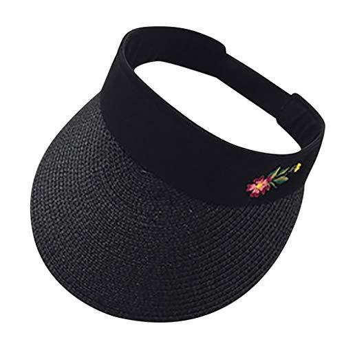 Fuibo Kappe für Herren und Damen, Unisex Sonnenblende einstellbar Sport Tennis Golf Cap Stirnband Hut | Basecap, Baseball Cap, verstellbar (Schwarz)