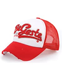 Distressed Trucker Mesh Cap Kappe Begeste NY rot