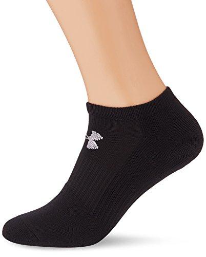 Under Armour Herren UA Charged Cotton 2.0 No Show Socken, 6er Pack, Schwarz (Black), L