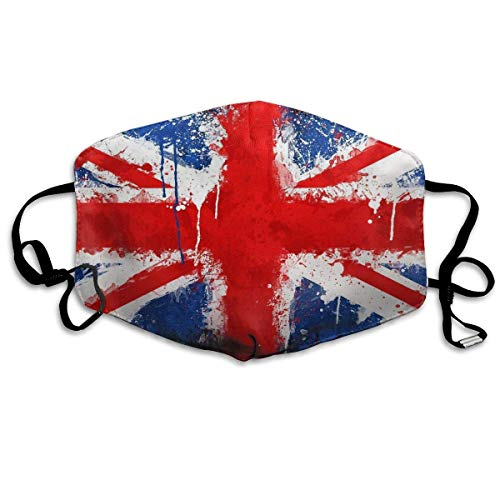 Fashion Earloop Face Masks, Anti-Dust Anti Flu Pollenm Germs Bacteria Virus Smog Face and Nose Cover with Adjustable Elastic Strap, British Flag Medical Mask Flag-peeling