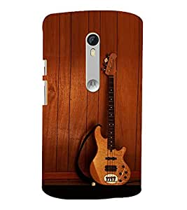 printtech Wooden Guitar Back Case Cover for Motorola Moto X Style