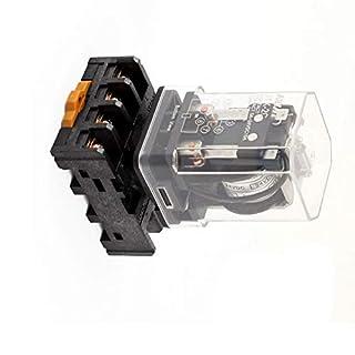 Aexit JTX-2 C8 Auto & Motorrad runder Stift DPDT DIN-Schiene elektromagnetische Relais DC Ersatz-, Tuning- & Verschleißteile 24 V-Spulen