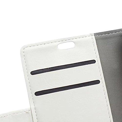 Crazy Horse Texture Pattern Kunststoff PU Ledertasche horizontale Flip Stehhilfe Case Wallet Fall Deckung Solid Color Case für Huawei Nexus 6P ( Color : Pink , Size : Huawei Nexus 6P ) White